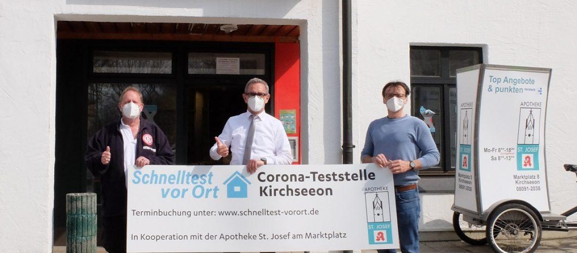 Corona-Teststation in Kirchseeon